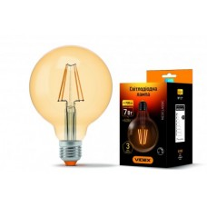 Светодиодная лампа Videx Filament  G95FAD 7W E27 2200K 220V бронза диммер