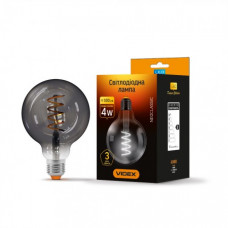 Светодиодная лампа Videx Filament G95FG 4W E27 2100K 220V